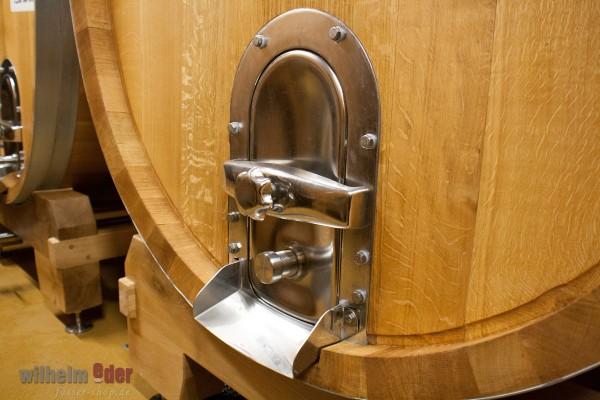 Porte en acier inoxydable pour fûts de grande taille
