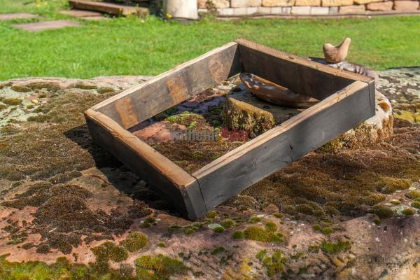 Soubassement en douelles de tonneau de whisky pour tonneau de 125 litres