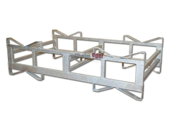 Supports combines en metal galvanisé pour 2 fûts de 500 l