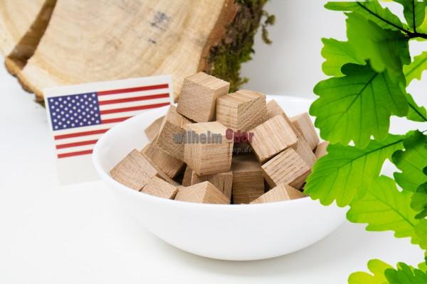 Cubes en bois de chêne - Américain non toast