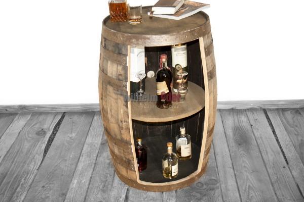 Tonneau de bourbon d'origine utilisé comme étagère 190 l nature