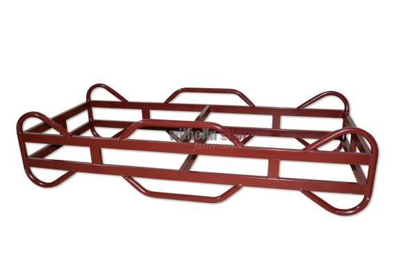 Supports métalliques, fûts rouge 225 l - nouveau