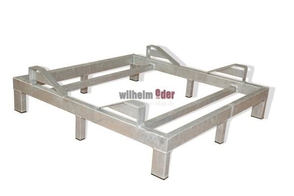Supports au sol en métal galvanisé pour 1 fût 600 l