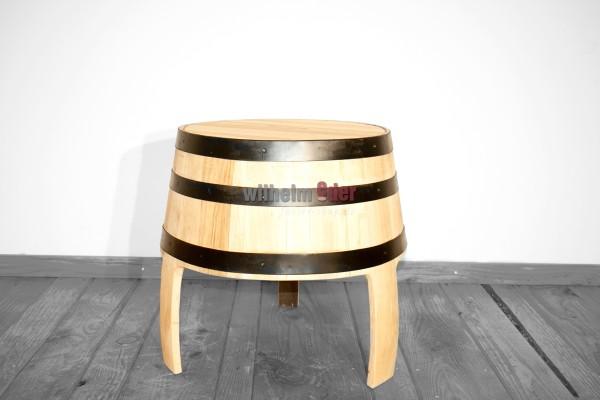 Tabouret fabriqué d'un fût – aspect bois de chêne