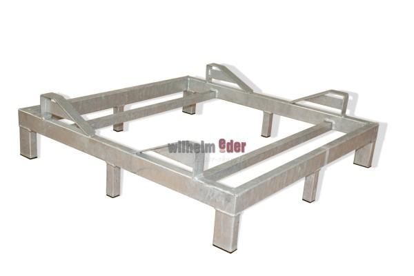 Supports au sol en metal galvanisé pour 1 fût de 500 l