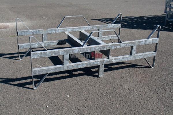 Supports au sol en métal galvanisé pour 2 fûts 300 l - Sale