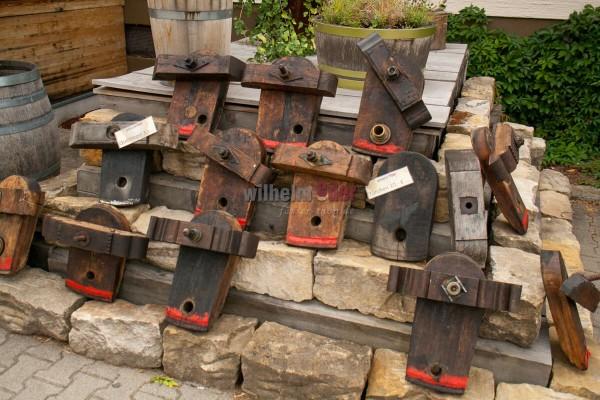 Portes avec traverses en bois pour la décoration