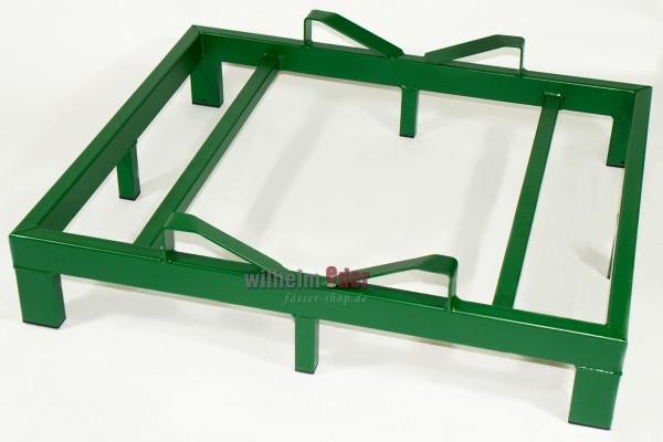 Supports au sol en métal pour 1 fût 500 l - vert