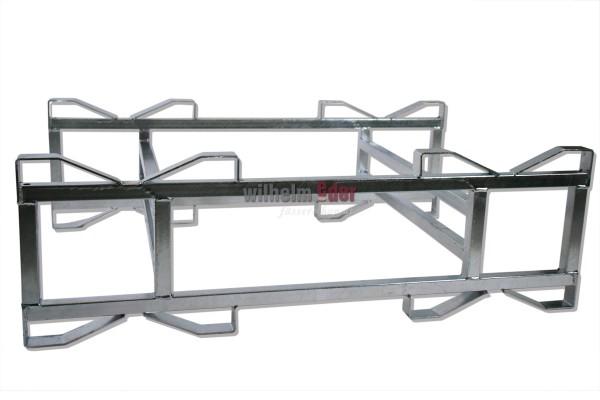 Supports combinés en métal galvanisé pour 2 fûts 225/228 l