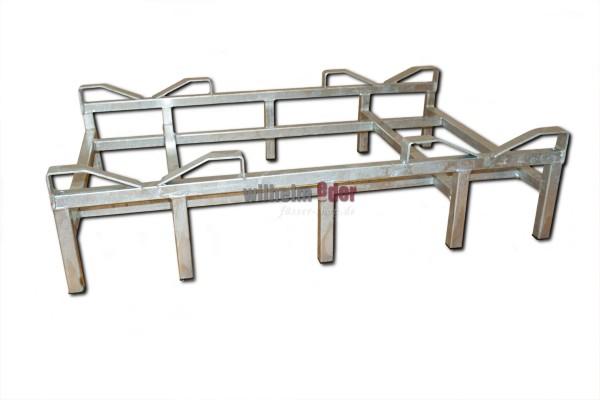 Supports au sol en metal galvanisé pour 2 fûts de 225/228 l