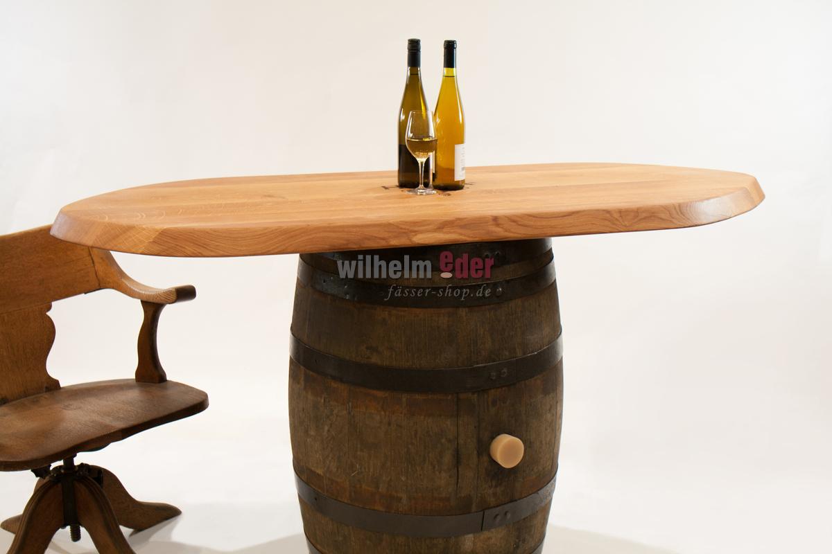plateau en bois table de bar avec plateau minibar fut tag re d co meubles de tonneaux. Black Bedroom Furniture Sets. Home Design Ideas