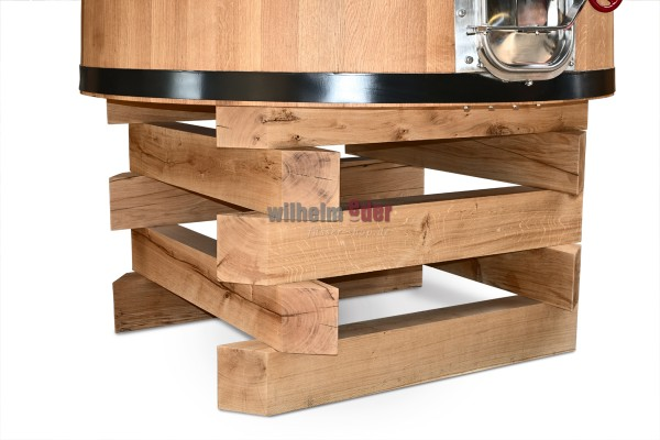 Stockage en fût de bois pour cuve de fermentation