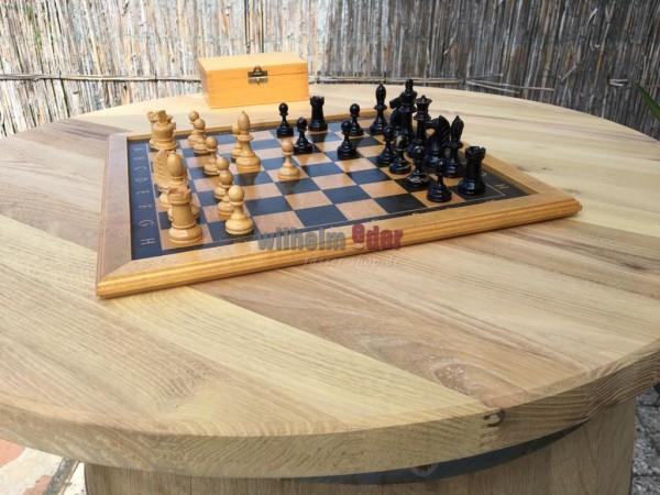 Plateau de table en robinier - rond 80 cm ; épaisseur 35 mm
