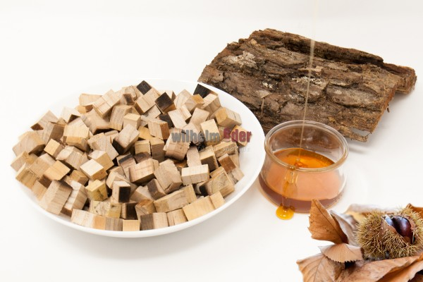 Cubes en bois de châtaignier