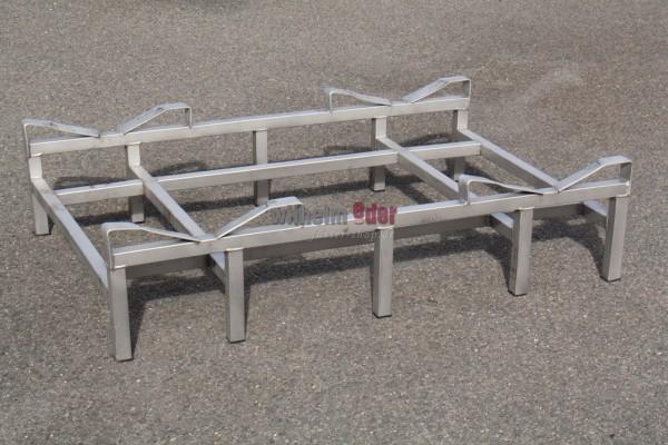 Supports au sol en inox pour 2 fûts 225/228 l - vente spéciale